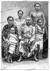 the royal family of fiji, probably of ratu epeli nailatikau i, e. ronjat, 1889