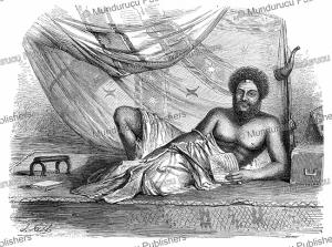 thakombau, vunivalu (warlord), king of mbau, fiji, j. fath, 1860