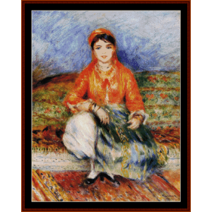 algerian girl - renoir cross stitch pattern by cross stitch collectibles