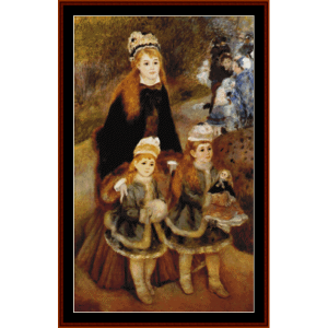Mother and Children - Renoir cross stitch pattern by Cross Stitch Collectibles | Crafting | Cross-Stitch | Other