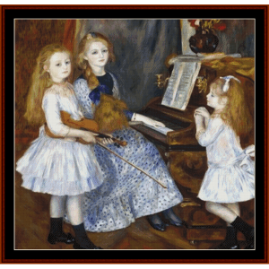 madame charpentier and her daughters  - renoir cross stitch pattern by cross stitch collectibles