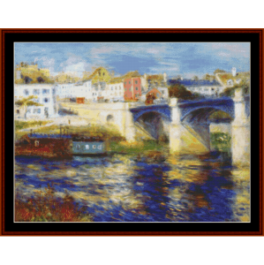 bridge at chatou - renoir cross stitch pattern by cross stitch collectibles