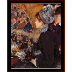 at the theatre - renoir cross stitch pattern by cross stitch collectibles