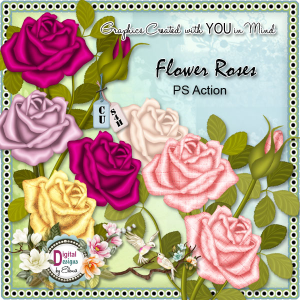 Flower Roses PS Action | Other Files | Scrapbooking