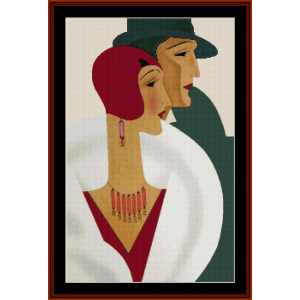 on the town - vintage poster cross stitch pattern by cross stitch collectibles