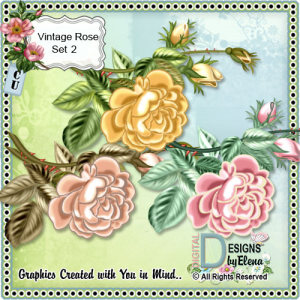 vintage rose set 02