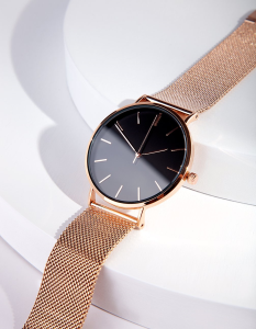 rose gold premium watch