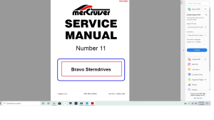 Mercruiser bravo stern drive service manual | Documents and Forms | Manuals