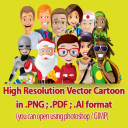 High Resolution Vector Graphics, Vector Cartoons & Logo Designs For Business, Editable eCover Header Templates, Fonts, Arrows, Great for POD Projects | eBooks | Other