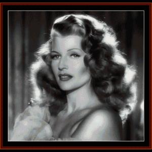 Rita Hayworth - Vintage cross stitch pattern by Cross Stitch Collectibles | Crafting | Cross-Stitch | Other