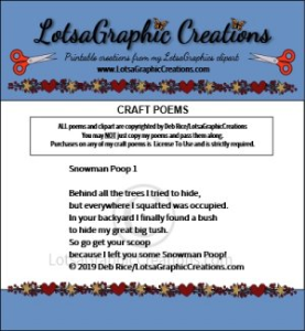 Snowman Poop 1 Poem | Other Files | Arts and Crafts