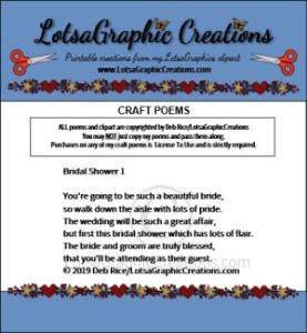 Bridal Shower 1 Poem | Other Files | Arts and Crafts