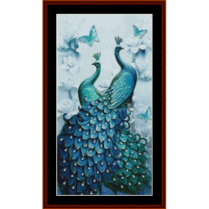 Peacock Heaven (Small) - Wildlife cross stitch pattern by Cross Stitch Collectibles | Crafting | Cross-Stitch | Other