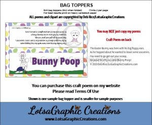 easter bunny 1 poop bag topper