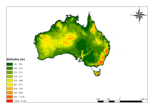australia elevation map