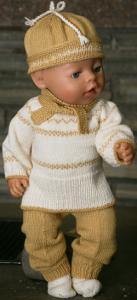 dollknittingpatterns 0206d johanna - genser, bukse, lue, skjerf og sokker-(norsk)