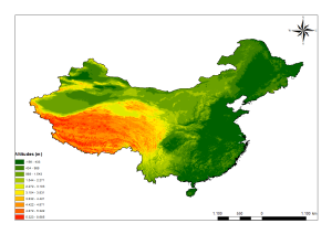 china elevation map