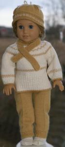 DollKnittingPatterns 0206D JOHANNA - Pull, écharpe, pantalon, chapeau et chaussettes-(Francais) | Crafting | Knitting | Other