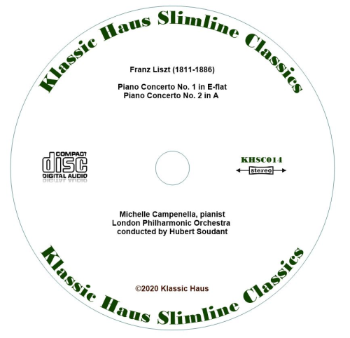 Second Additional product image for - Liszt: Piano Concerti Nos. 1 & 2 - Michelle Campenella/LPO/Hubert Soudant