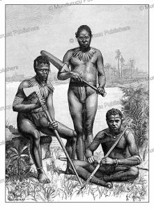 aboriginals of the new hebrides, vanuatu, laethier, 1889