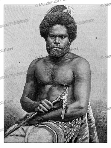 A man from Mare´, one of the Loyalty Islands, New Caledonia, Vanuatu, H. Thiriat, 1889 | Photos and Images | Travel