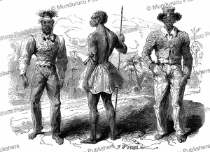 Natives of New Caledonia, J. Worms, 1854 | Photos and Images | Travel