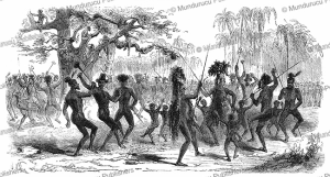 Dancing natives of New Caledonia, M. de Lascazas, 1854 | Photos and Images | Travel