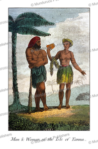 Man and woman of the Island of Tanna, Vanuatu, Mary Anne Venning, 1817 | Photos and Images | Travel