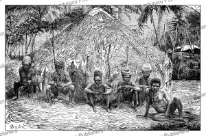 A meeting of Kanak (Canaque) chiefs, New Caledonia, L. Breton, 1871 | Photos and Images | Travel