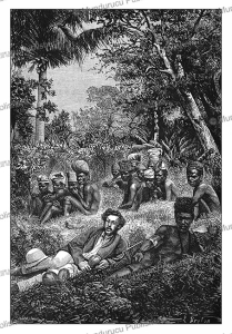 kanak (canaque), indigenous melanesian inhabitants of new caledonia, l. breton, 1871