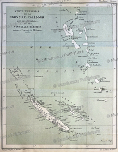 French map of New Caledonia and the New Hebrides (Vanuatu), Ch. Lemire, 1884 | Photos and Images | Travel