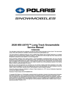 2020 polaris 850 axys long track snowmobiles service manual pdf download
