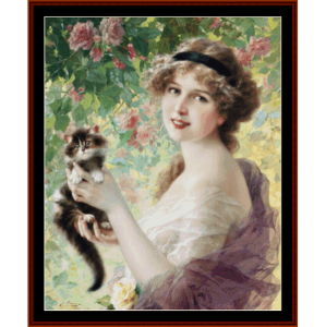 her most precious - emile vernon cross stitch pattern by cross stitch collectibles