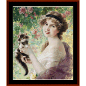 her most precious (small) - emile vernon cross stitch pattern by cross stitch collectibles