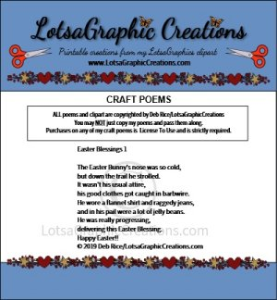 Easter Blessings 1 Poem | Other Files | Arts and Crafts