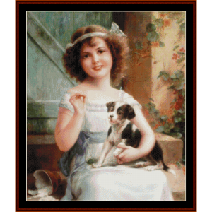 waiting for the vet - emile vernon cross stitch pattern by cross stitch collectibles