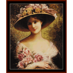 the fancy bonnet - emile vernon cross stitch pattern by cross stitch collectibles