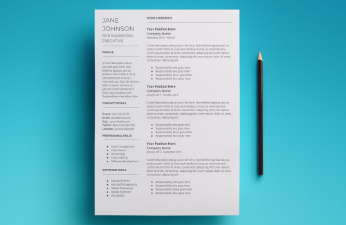 Second Additional product image for - Mars Resume Template