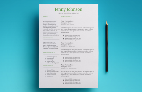Second Additional product image for - Mercury Resume Template