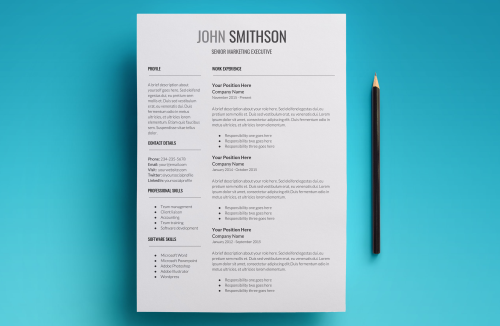 Second Additional product image for - Proxima Resume Template
