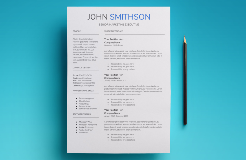 Second Additional product image for - Saturn Resume Template