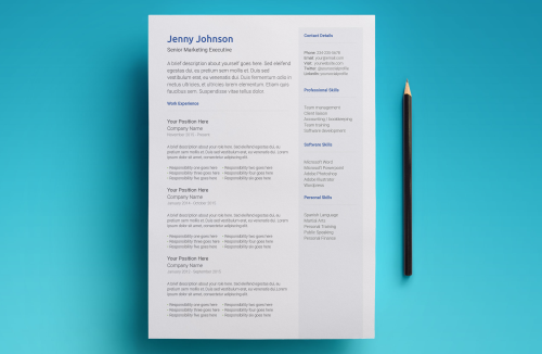 Second Additional product image for - Neptune Resume Template