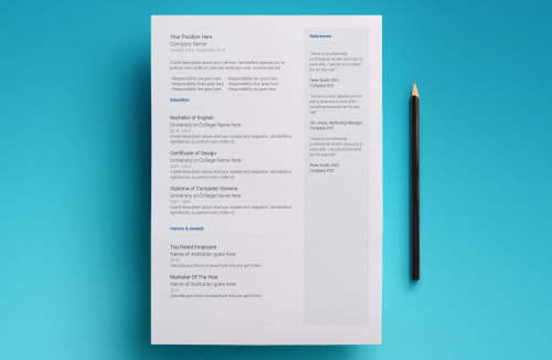 Third Additional product image for - Neptune Resume Template