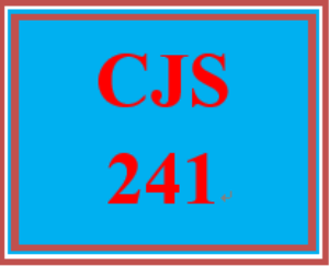 CJS 241 All Discussions | eBooks | Education