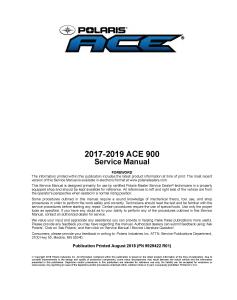2017-2019 polaris 900 ace atv service repair manual pdf download