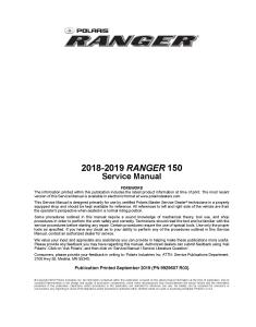 2018-2019 polaris ranger 150 side x side service repair manual pdf download