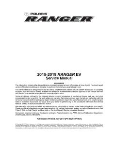 2015-2019 polaris ranger ev side x side service repair manual pdf download