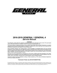 2016-2019 Polaris General General 4 Side x Side Service Repair Manual PDF Download | eBooks | Reference