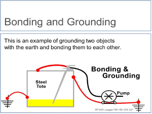 the differences between and purposes for bonding, grounding, and earthingin north american power distribution systems