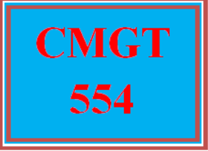 CMGT 554 All Discussions | eBooks | Education